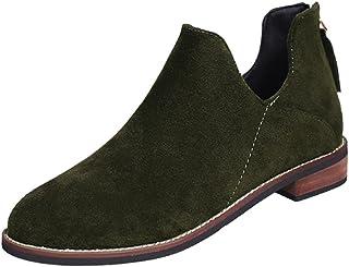 0ec74393027151 Zegeey Bottine Femmes Talon Chelsea Boots Femme Ankle Botte Hiver Plate  Cuir Chaussures Compensé Bottines PU