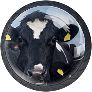 Cow Farm Friesian Cow in Herd Ear Tags Ireland Crystal Glass Cupboard Knobs Drawer Knob Pull Handle Cabinet Handle Knobs