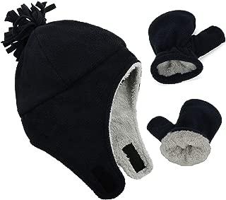 Baby Hat Mittens Baby Boy Hat Fleece Lined Warm Winter Hats Toddler Hat and Mitten Set