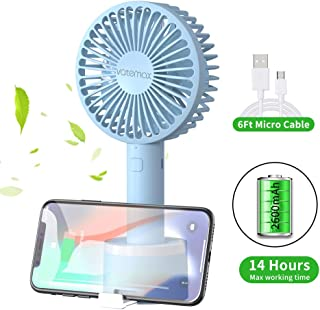 MEETGG Mini Portable USB Fan,2 Speeds Adjustable Mini Desktop Fan Portable Mini USB Rechargeable Cooling Fan with for Office Home and Travel