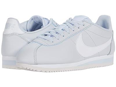 Nike Classic Cortez Leather (Football Grey/White) Women