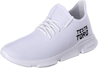 Testa Toro Mesh-Microfiber Embroidered-Logo Lace-up Sneakers for Men