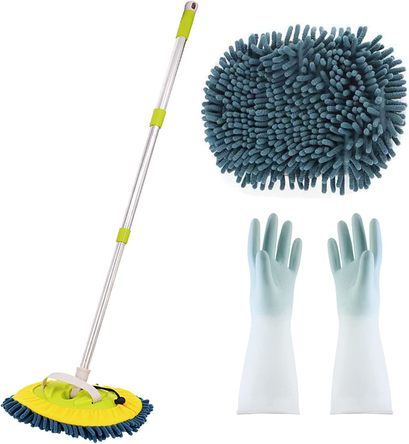 TYJH 3-in-1 Wash Mop Mitt Rotat Limited Special Price Max 60% OFF Retractable Rotation 180 Degree