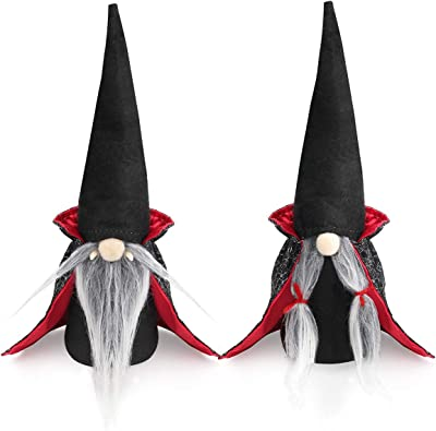 D-FantiX 2 Pack Halloween Gnomes Decorations + 2Pcs Parent-Child Halloween Costume Fake Backpack Wings