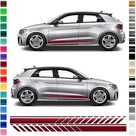Auto Dress 2x Seitenstreifen Aufkleber Für Audi A1 110 Black Gloss Auto
