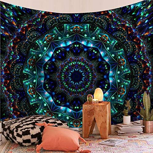 KHKJ Tapiz de Mandala Indio para Colgar en la Pared, Manta de Alfombra de Playa de Arena, Tienda de campaña, Tapiz Bohemio para Dormir, tapices A1 95x73cm