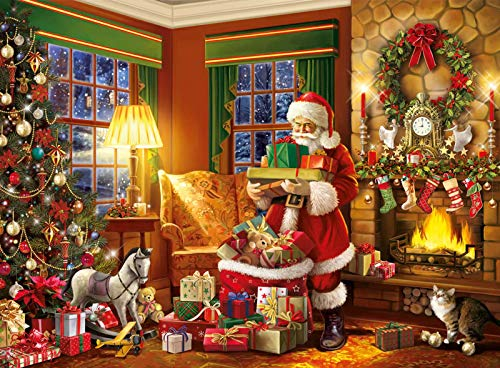 500 Pieces Jigsaw Puzzle for Adults, Christmas Santa Claus Gift Jigsaw Puzzles, Hand Made Puzzles Personalized Gift