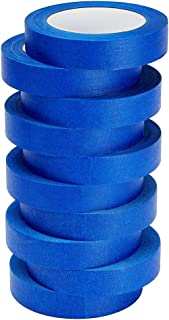 LICHAMP 10-Piece Blue Painters Tape 1 inch, Blue Masking Tape Bulk Multi Pack, 1 inch x 55 Yards x 10 Rolls (550 Total Yards)