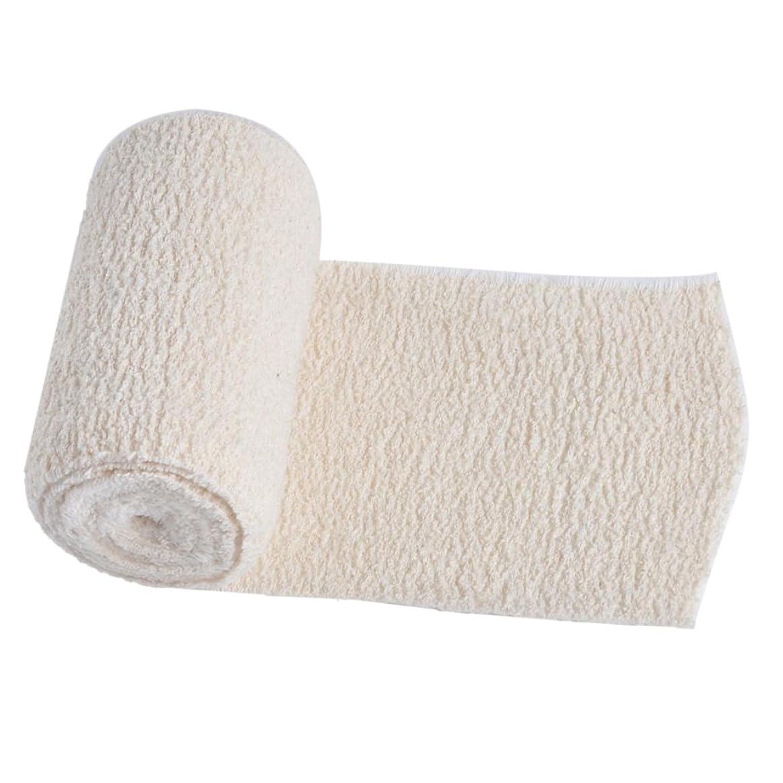 ジャニスタイピストに賛成Kesoto 1パック 弾性包帯 綿 包帯 スポーツ 保護 圧縮ラップ 4インチ