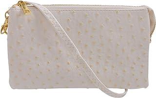 Amazon.es: crema cuero - Carteras de mano y clutches ...