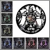 12 pulgadas con TAPA 7 colores 1 bicicleta estática iluminación reloj de pared fitness gimnasio deportes decoración hobby regalo