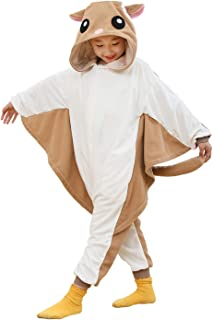 Kids Unisex Animal Onesie Pajamas Cosplay Halloween Costume Flying Squirrel Gifts