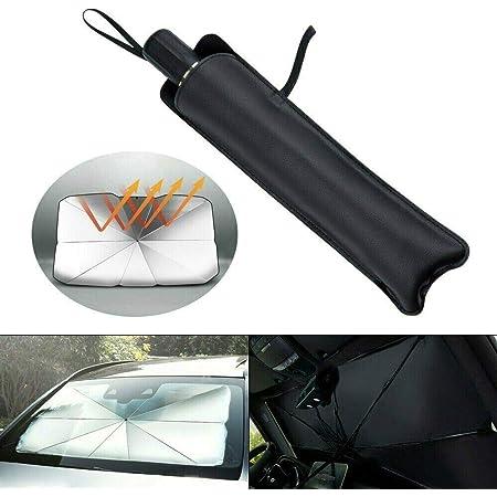 Lgraka Auto Windschutzscheibe Sonnenschirm Regenschirm Universal Auto Faltbarer Vorhang Frontscheibe Windschutzscheibe Sonnenschutz Sonnenschutz Auto