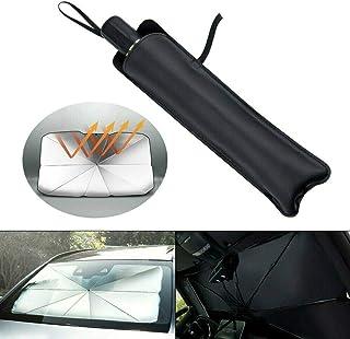 Lgraka Auto Windschutzscheibe Sonnenschirm Regenschirm, Universal Auto Faltbarer Vorhang Frontscheibe Windschutzscheibe Sonnenschutz Sonnenschutz