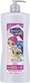 Suave 儿童洗发露护发素,2合1,芒果味 Disney Frozen Elsa Berry Flurry 28 oz (Pack of 4)
