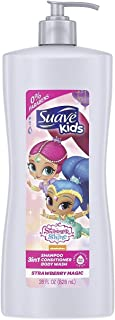 Suave Kids 3 in 1 Shampoo, Conditioner and Body wash, 28 Fl. Oz (Pack of 4)