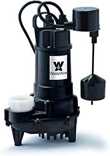 WaterAce WA75CSV Sump Pump, 3/4 HP, Black
