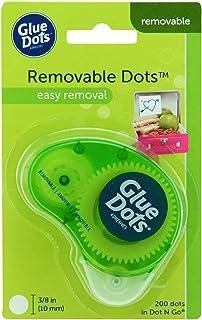 Glue Dots 03669E Dot N' Go Adhesive Dispenser, Clear, 200 Dots