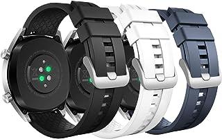MoKo armband för Huawei Watch GT 2019 46 mm/Watch GT Active/Watch 2 Pro/Honor Watch Magic/Galaxy Watch 46 mm, 3-pack silik...