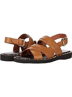 COACH Gemma Sandal,Light Saddle Leather