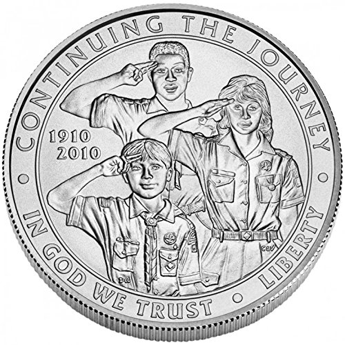 2010 P Boy Scouts Centennial Silver Dollar Commemorative Uncirculated US Mint