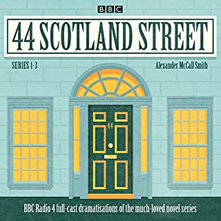 44 Scotland Street: Series 1-3     Full-cast radio adaptations of the much-loved novels              By:                                                                                                                                 Alexander McCall-Smith                               Narrated by:                                                                                                                                 Crawford Logan,                                                                                        Carol Ann Crawford,                                                                                        full cast                      Length: 3 hrs and 24 mins     30 ratings     Overall 4.2
