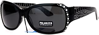 Anti Glare Polarized Womens Rhinestone Plastic Rectangular Butterfly Sunglasses