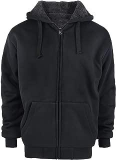 Tankoo Men's Fleece Lined Winter Heavyweight Full Zipper Hoodie Sweatshirt Jacket Coat