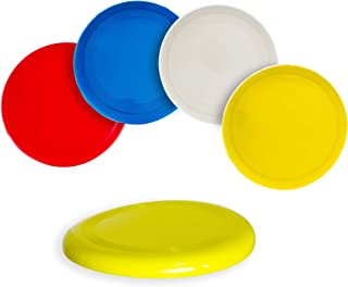 4-Pack 2.6 inch Flying Discs Backyard Games & Sports Party Favors for Kids & Adults - Assorted Colors