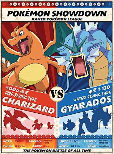 Buffalo Games Entertainment: Pokemon Showdown - Charizard v. Gyarados Puzzle 1000pc
