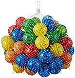 50 bolas para piscina de bolas para niños, bebés, animales, 55mm de diámetro, color carbón, tamaño 50 unidades