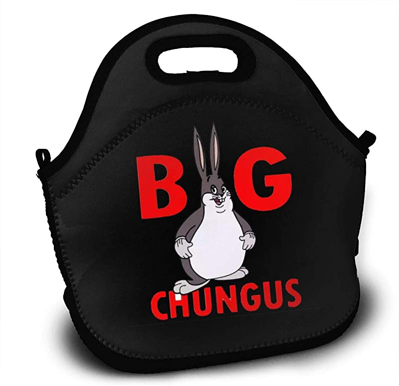 Lunch Tote Bags Big Chungus Durable Food Handbag Lunch Box For School Work Outdoor