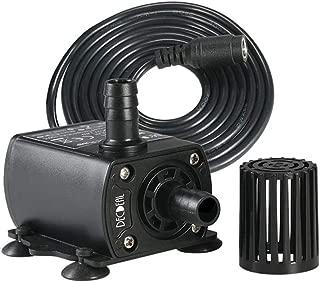 Solar Fountain Water Pump, DC 12V 400L/H Ultra-Quiet Mini Brushless Solar Motor Cold Water Circulation Pump - Black 12V