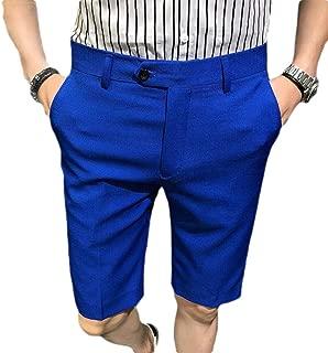RkBaoye Men No Iron Pockets Pure Colour Summer Shrot Pants Dress Pant
