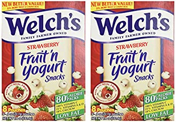 Welch s Strawberry Fruit n Yogurt Snacks 8 Pouches  2 Pack - 16 Pouches Total