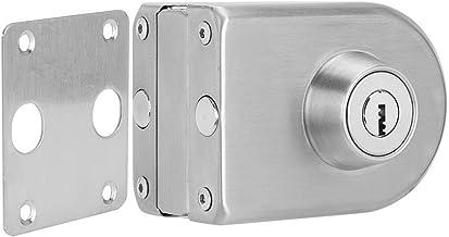 Slot 10-12mm glazen deurslot roestvrij ijzeren single deurslot grendel semi-circulaire thuiskantoor beveiliging accessoire...
