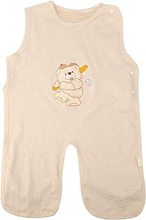 Saco de dormir para bebé recién nacido Color Tela de algodón Pijama anti retroceso para primavera para(XL, Baseball bear thin cotton)