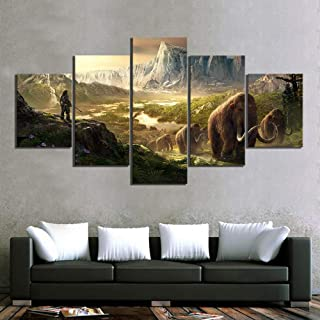 Sanzx 5 piezas Hd Fantasy Art Game Scene Poster Painting Far Cry Original Video Game Poster Artwork Home Decoration Mural30 * 40 * 2 30 * 60 * 2 30 * 80Cm sin marco