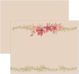 Dashleigh Vintage Floral Note Cards, Double Sided and Ultra-Thick Cardstock, Set of 50
