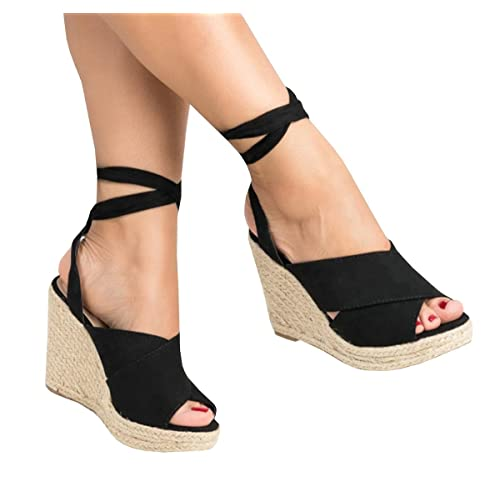 dcc39c826d7 Espadrille Platform Peep Toe Heels: Amazon.com