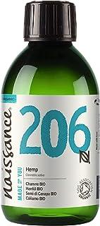 Naissance Hanfsamenöl BIO Nr. 206 250ml – nativ, kaltgepresst, 100% rein – vegan und tierversuchsfrei – reich an Omega-3 und Omega-6