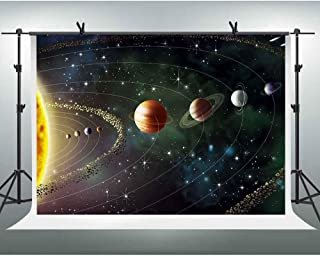 FHZON 10x7ft Outer Space Photo Backdrop Solar System Planet Rotation Cosmic Galaxy Photography Background Themed Party Wallpaper Video Studio Props LSFH619
