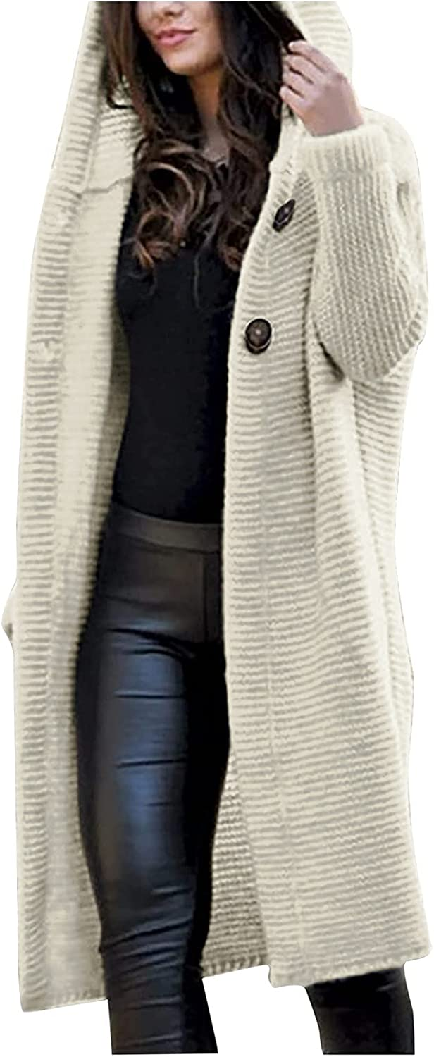 MAYW Long Cardigans for Women ,Fashion Womens Oversized Knit Texture Casual Loose Open Front Plus Size Cardigan Sweaters