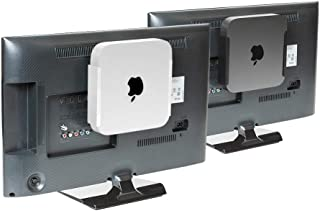 HIDEit MiniU Mac Mini Mount - Mount for Mac Mini (Silver) - Wall Mount, Under Desk Mount and VESA Mount - Made in The USA and Trusted Worldwide