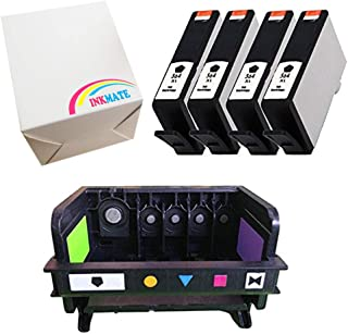 INKMATE Compatible Ink Cartridge Replacement for 564XL for HP Photosmart 5510 5520 6520 7520 4BK 4 Pack and Printhead Replacement for 564XL 5-Slot CB326-30001 CN642A 1Pack