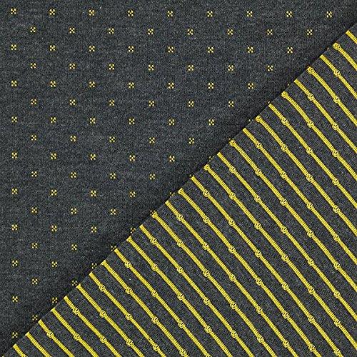 Doubleface Jersey Stoff – anthrazit — Meterware ab 0,5m — STANDARD 100 by OEKO-TEX® Produktklasse I — zum Nähen von Sweatshirts, Tops/T-Shirts und Röcke