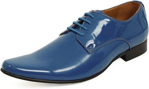 Dobell Moderne Blaue Lackschuhe