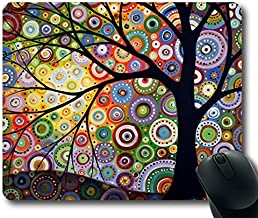 Schoolsupplies Colored trees Picture Anti-Slip Laptop PC Mice Pad Mat Mousepad For Optical Laser Mouse