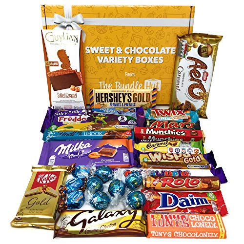 Caramel Chocolate Hamper Gift Selection Box from The Bundle Hut: Includes Lindt Salted Caramel Truffles, Milka Caramel, Twix Salted Caramel, Aero Caramel, Gift for Christmas, 1200g