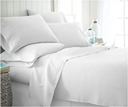 ienjoy Home 6 Piece Home Collection Premium Ultra Soft Bed Sheet Set, King, White